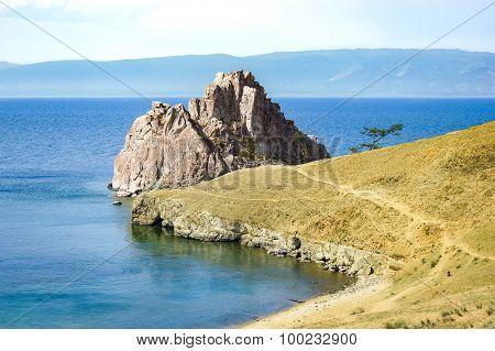 Shamanka rock on Bailak lake