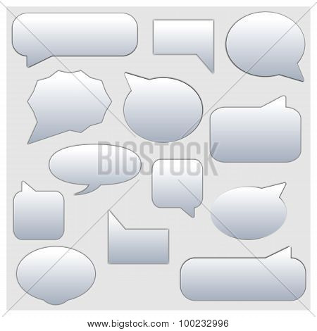 Set Frame For The Chat And Comments, Vector Illustration.