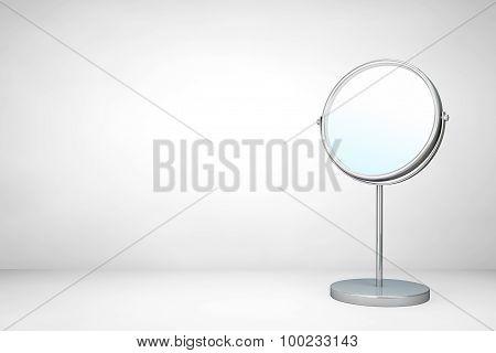 Chrome Makeup Mirror