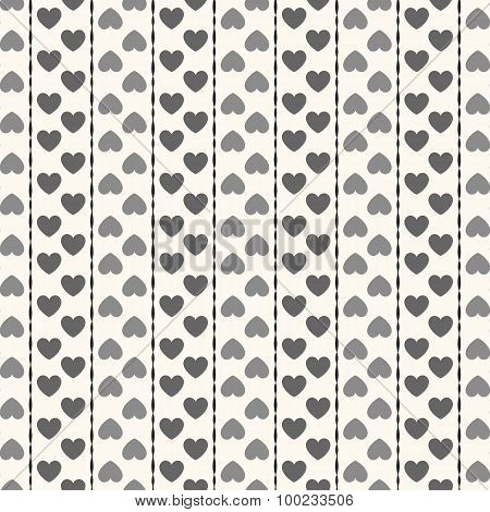 Seamless geometric pattern with hearts.  illustration