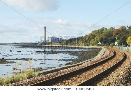 Longgannet Power Station And Railway