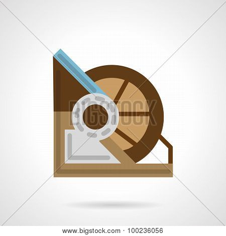Flat color winch machine vector icon