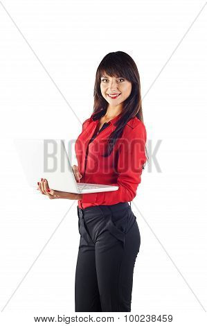Young Adult Brunette Woman