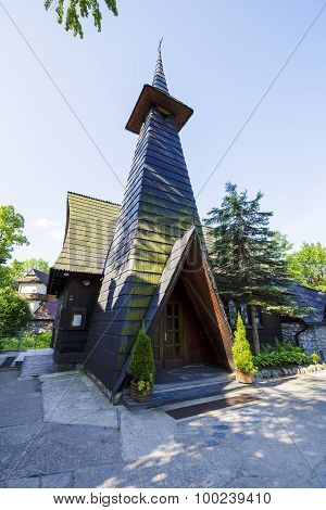 Church Built Of Wood In Zakopane, Poland