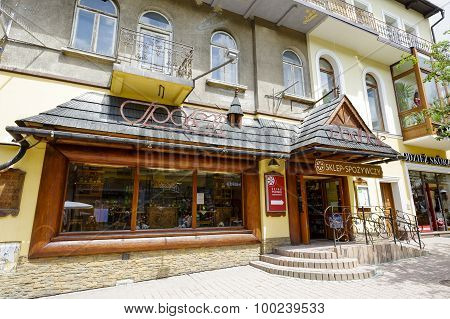 Entrance To The Grocery Store In Zakopane