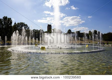 Fountain In The Multimedia Fountain Park, Warsaw