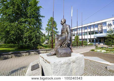 Statue To Andrzej Chramiec In Zakopane