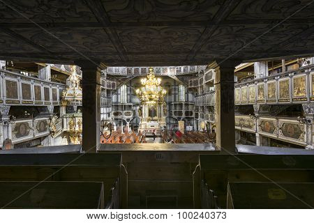 Interior Of Church Of Peace In Jawor, Poland
