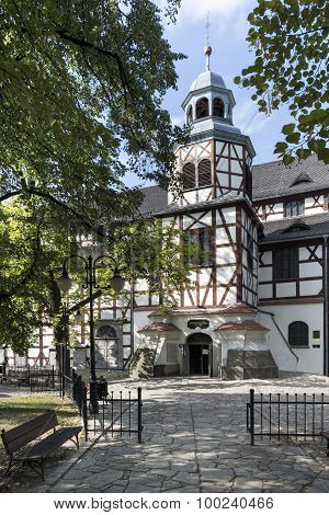 Exterior Of Wooden Church Of Peace In Jawor, Poland