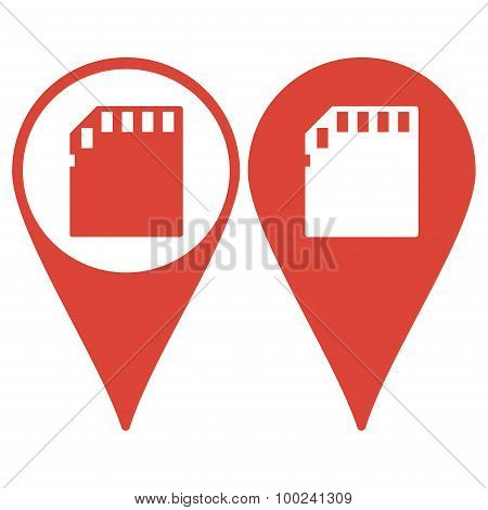 Map Pointer. Micro Sd Card