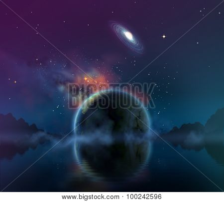 View from an alien world, illustration