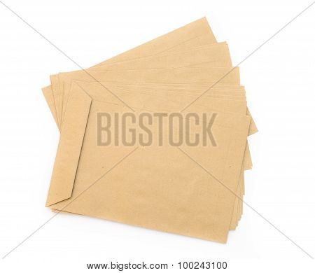 old brown envelope isolated