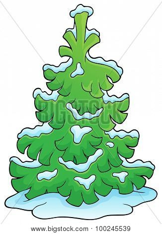 Coniferous tree theme image 1 - eps10 vector illustration.