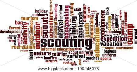 Scouting Word Cloud