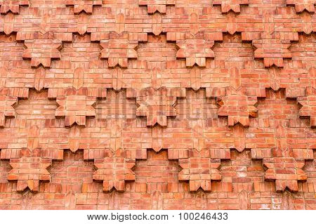 Textured Brick Work On A Wall