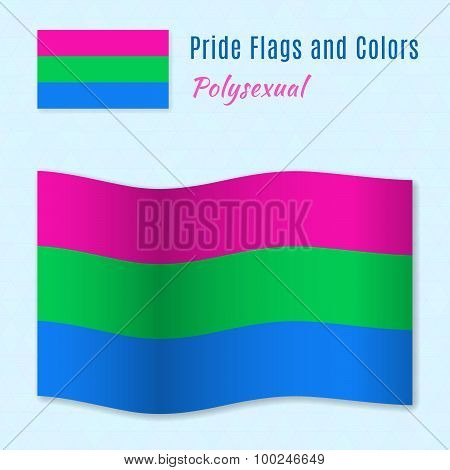 Polysexual pride flag with correct color scheme