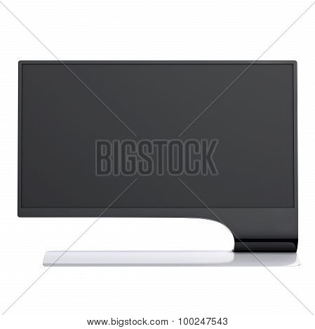High resolution computer monitor front view. 3d graphic