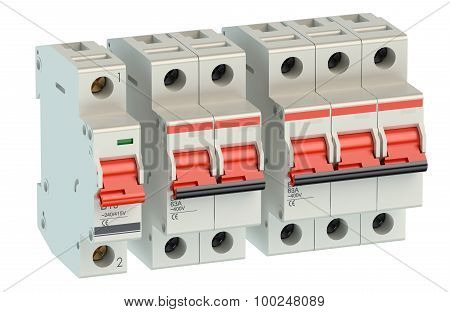 Set Of Automatic Electricity Switches