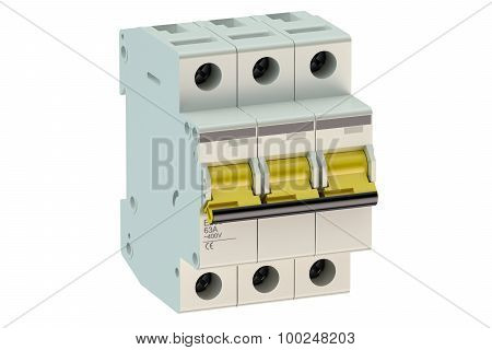 Three-pole Miniature Circuit Breaker