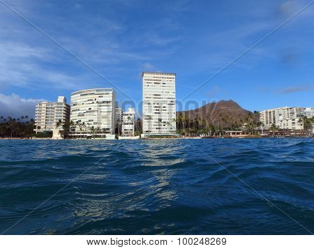 Diamondhead And Condos From The Ocean