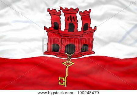 Gibraltar flag.