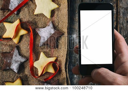 Christmas Cookies And Blank Screen