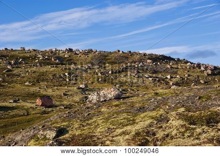 Musta Tunturi. Ridge On The Kola Peninsula, Arctic Russia