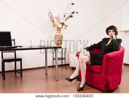 Businesswoman In A Office