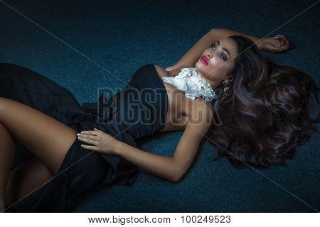 Elegant Luxury Brunette Woman.