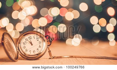 New Year Clock at Midnight