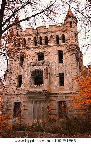 Abandoned Castle Estate Of Count Hrapovitsky (russia)