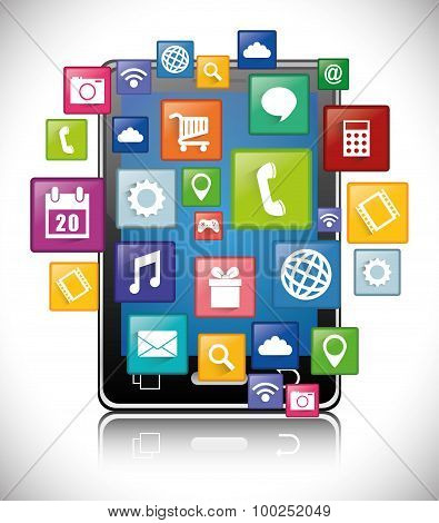 Smartphone applications design.