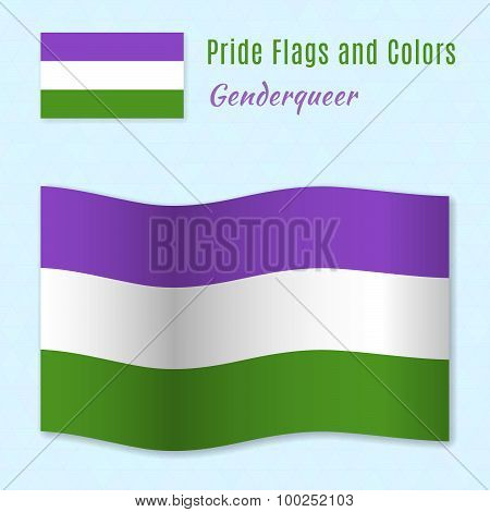 Genderqueer Pride Flag With Correct Color Scheme