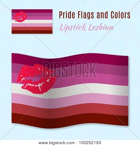 Lipstick Lesbian Pride Flag With Correct Color Scheme