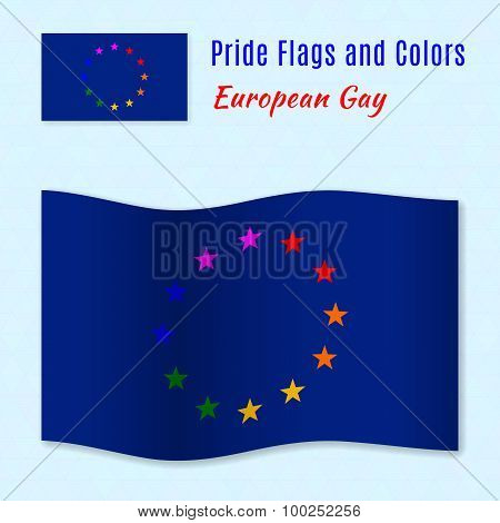 European Gay Pride Flag With Correct Color Scheme