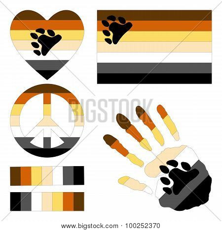 Bear Brotherhood Pride Design Elements.