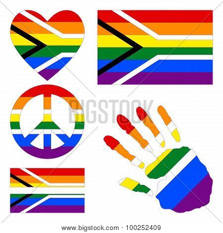 Design Elements For Gay Pride Of South Africa.