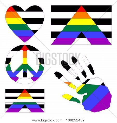 Straight Allies Pride Design Elements.