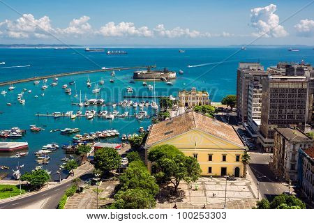 View Of All Saints Bay In Salvador, Bahia, Brazil
