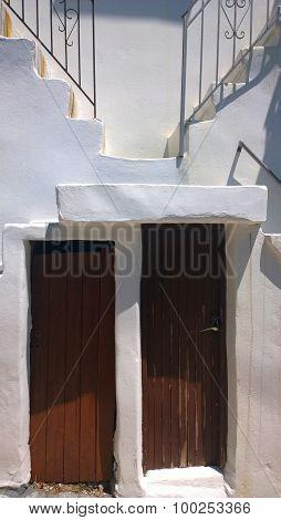 Cross Doorsteps in Skyros Island, Greece
