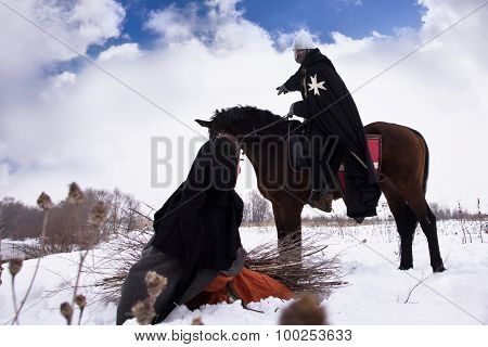 Knight Hospitaller Asked For Directions From The Peasant