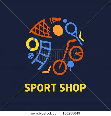 Vector logo sport shop