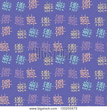 Seamless pattern tic-tac-toe.