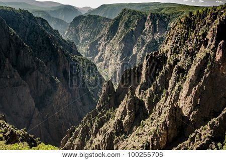 Jagged Cliffs Of Black Canyon