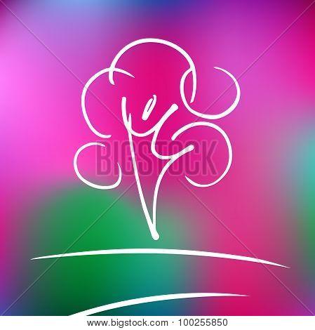 Vector logo rose nature tree and harmony.