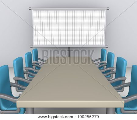 Table And Chairs As Meeting Preparation