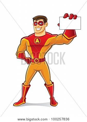 Handsome Superhero Card