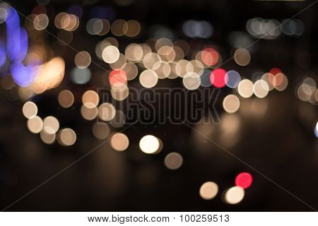 Blur Image Of Lights
