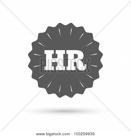 Human resources sign icon. HR symbol