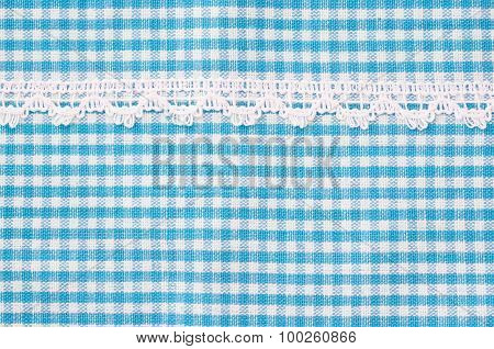 Beautiful Blue And White Tablecloth.
